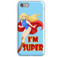 Woman Super Hero Flying With Cape iPhone Case/Skin