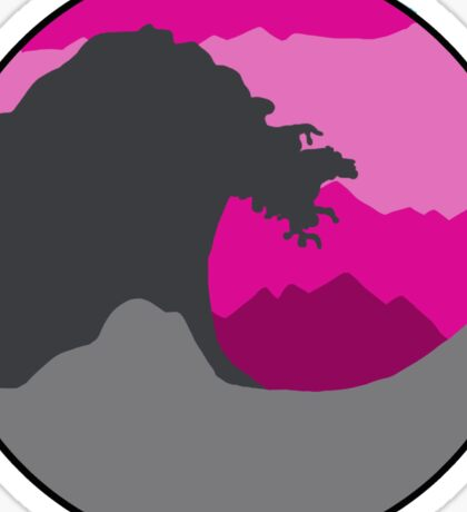 The Great Wave - Pink Sticker
