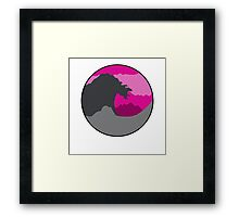 The Great Wave - Pink Framed Print