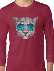 Leopard with sunglasses Long Sleeve T-Shirt