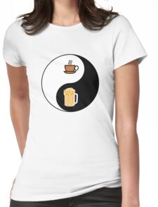 Coffee vs. Beer Womens Fitted T-Shirt