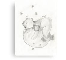 Balloon Pooh Bear Canvas Print