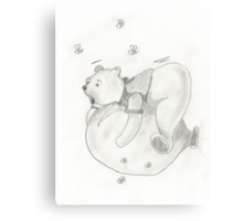 Balloon Pooh Bear Canvas Print