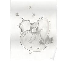 Balloon Pooh Bear Poster