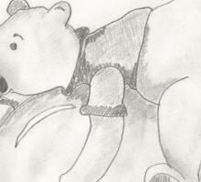 Balloon Pooh Bear Sticker