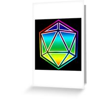Dungeons and Dragons Pride Dice Greeting Card