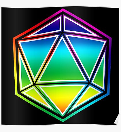 Dungeons and Dragons Pride Dice Poster