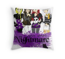 Nightmares and Magic Throw Pillow