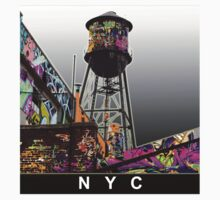 NYC graffiti water tower by rlnielsen4