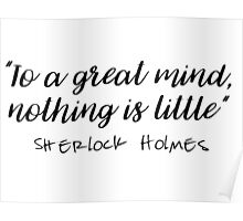 Sherlock - To a great mind... Poster