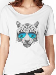 Tiger with sunglasses Women's Relaxed Fit T-Shirt