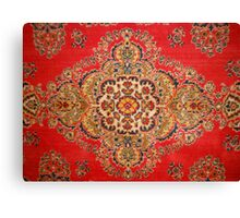 Red background with patterns Canvas Print