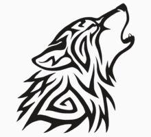 Tribal Wolf Howl One Piece - Long Sleeve