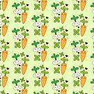 cute kawaii carrot and turnip by jazzydevil