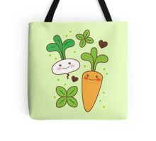 cute kawaii carrot and turnip Tote Bag