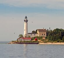 South Manitou Island Lighthouse by Roger  Swieringa