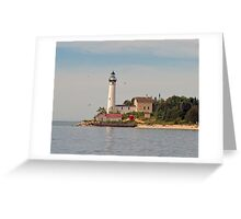 South Manitou Island Lighthouse Greeting Card