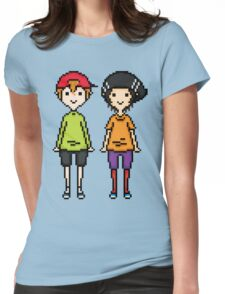 KevEdd Pixel Sprites Womens Fitted T-Shirt