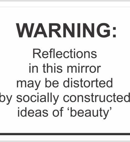 Mirror Warning Sticker