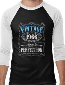 50th birthday gift for men Vintage 1966 aged to perfection 50 birthday Men's Baseball ¾ T-Shirt