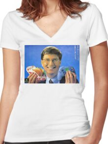 Bill Gates - Man Can Do Two Things At Once Women's Fitted V-Neck T-Shirt