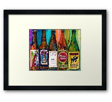 Zombie Dust, Dead Man Ale, Lunch, PlinytheEdler, Centillion Combo Fancy Beer Man Cave Framed Print