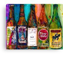Zombie Dust, Dead Man Ale, Lunch, PlinytheEdler, Centillion Combo Fancy Beer Man Cave Canvas Print