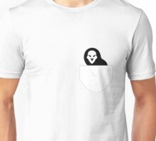Spoopy reaper in a pocket Unisex T-Shirt