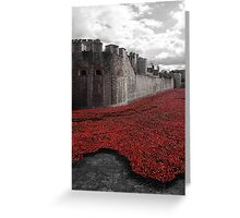 Seas of Red Greeting Card