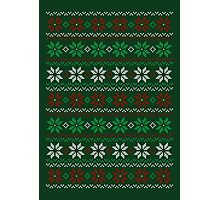 Poinsettia Christmas Sweater Photographic Print