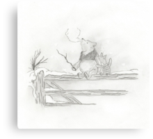 Pooh and Piglet Canvas Print