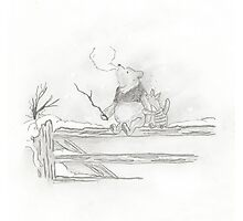 Pooh and Piglet Photographic Print