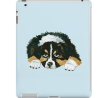 Black Tri Australian Shepherd Puppy  iPad Case/Skin