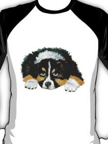Black Tri Australian Shepherd Puppy  T-Shirt