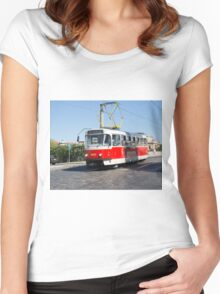 rams in Prague Women's Fitted Scoop T-Shirt