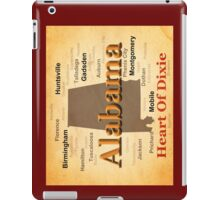 Aged Alabama State Pride Map Silhouette  iPad Case/Skin