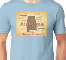 Aged Alabama State Pride Map Silhouette  Unisex T-Shirt