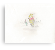 Pooh bear and Piglet Canvas Print