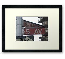 5th & Broadway Framed Print