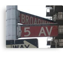 5th & Broadway Canvas Print