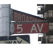 5th & Broadway Photographic Print
