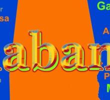 Colorful Alabama State Pride Map Silhouette  Sticker