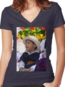 Cuenca Kids 833 Women's Fitted V-Neck T-Shirt