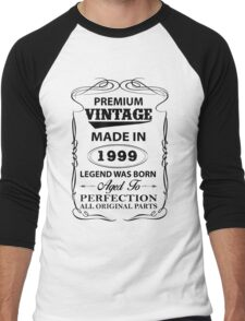 Premium Vintage 1999 Aged To Perfection Men's Baseball ¾ T-Shirt
