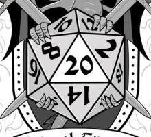 Natural 20 Crest - D&D (Black) Sticker