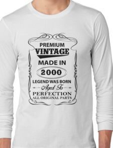 Premium Vintage 2000 Aged To Perfection Long Sleeve T-Shirt