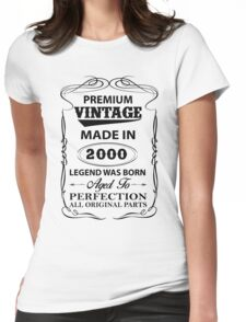 Premium Vintage 2000 Aged To Perfection Womens Fitted T-Shirt