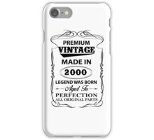 Premium Vintage 2000 Aged To Perfection iPhone Case/Skin