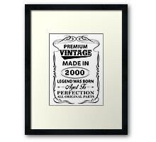 Premium Vintage 2000 Aged To Perfection Framed Print