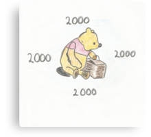 Pooh bear 2000 Canvas Print